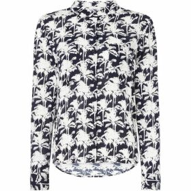 Samsoe and Samsoe Long sleeve shirt with palm print