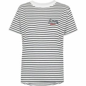 Whistles Stripe Dove Logo Tshirt
