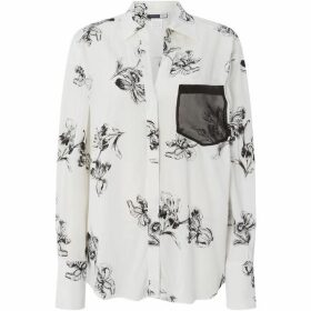 Sportmax Code Jerzu pocket detail printed shirt