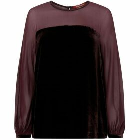 Max Mara Studio Sheer sleeve silk shirt