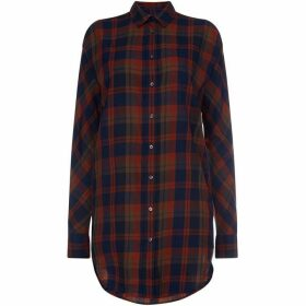 Gant Long Line Checked Shirt