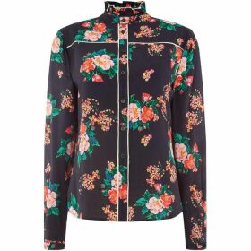 Oui Floral printed shirt