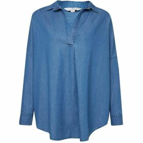 French Connection Tidore Chambray Popover Shirt