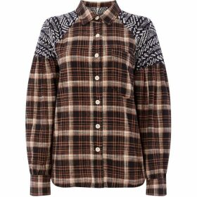 Free People Fireside Nights Buttondown Checked Shirt