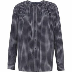 French Connection Clarisse Lawn Check Yarn Dye Shirt