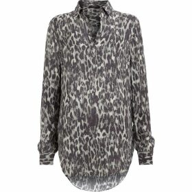 All Saints Keri Leopard Shirt