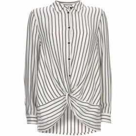 Mint Velvet Twist Front Stripe Shirt