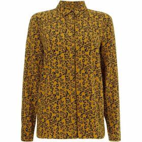 Linea Khaki leopard printed shirt