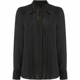 Linea Pintuck shirt with black tie