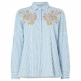 Marella Oidio long sleeve embroided shirt