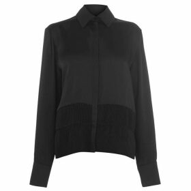 Victoria Victoria Beckham Pleated hem high neck shirt
