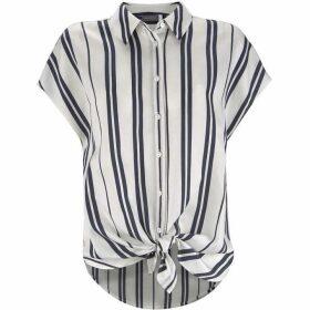Mint Velvet Ivory & Blue Striped Shirt