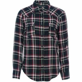 French Connection Clara Check Semi Fitted Western Shirt