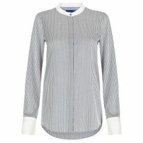 Winser London Lightweight Silk Striped Shirt