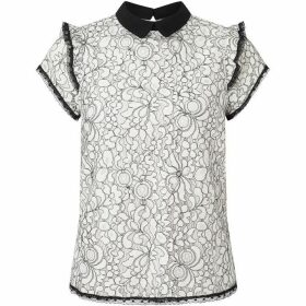 James Lakeland Lace Collar Shirt