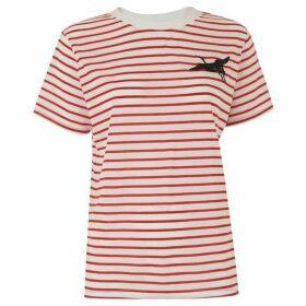 Whistles Crane Embroidered Logo Tshirt