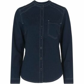 Whistles Stitch Detail Denim Shirt