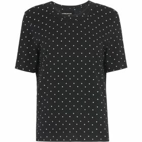 Whistles Spot Rosa Double Trim Tshirt