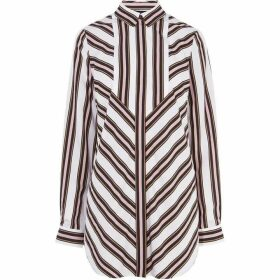 Karen Millen Long-Sleeve Striped Shirt