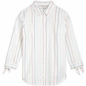 Sandwich Cuff Tie Stripe Shirt