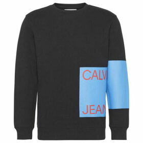 Calvin Klein Jeans Ckjeans Logo Black Sweater