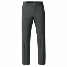 Limehaus Alistair Grey Micro Check Skinny Trousers