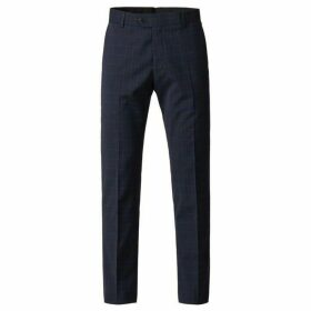 Gibson Navy Trousers With Soft Red Check