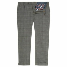 Ted Baker Squard Two Tone Checked Grey Tailored Trouser