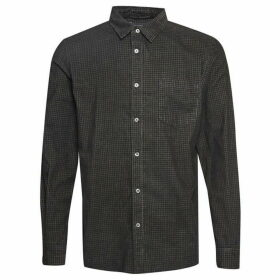 French Connection Overdyed Mini Check Corduroy Shirt