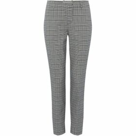 Oui Checked side stripe trouser