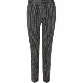 Oasis Printed Compact Cotton Trousers