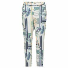 Betty Barclay Leaf Print Trousers