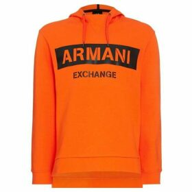 Armani Exchange Leather Logo Hoodie