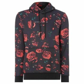 Criminal Damage Printed Rose Hoodie