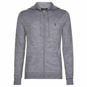 All Saints Mode Merino Zip Hoodie