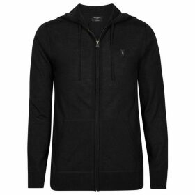 All Saints Mode Merino Zipped Hoodie