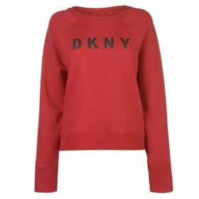 DKNY Sparkle Logo Sweatshirt Ladies