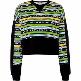 Juicy Couture Racer Stripe Logo Terry Sweatshirt