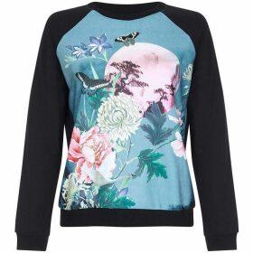 Yumi Floral Moon Scene Sweatshirt