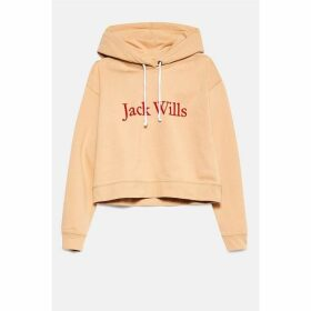 Jack Wills Rachford Flocked Logo Hoodie