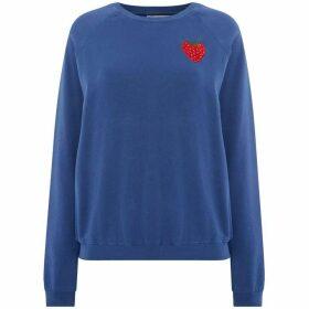 Bando Raglan Strawberry Embroidered Sweatshirt