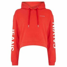Calvin Klein Cropped Institutional Hoodie