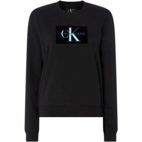 Calvin Klein Monogram Flock Box Logo Sweatshirt