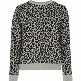 Whistles Cheetah Flocked Sweatshirt