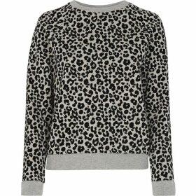 Whistles Cheetah Flocked Sweatshirt