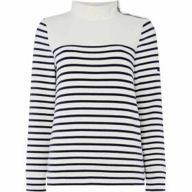 Crew Clothing Company Funnel Sweatshirt Stripe