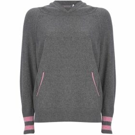 Mint Velvet Grey & Pink Star Back Hoodie