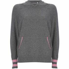 Mint Velvet Grey & Pink Star Back Hoodie