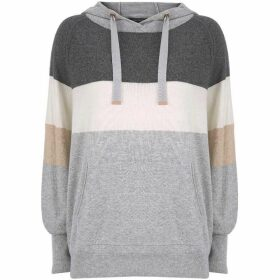 Mint Velvet Silver Grey Blocked Hoodie