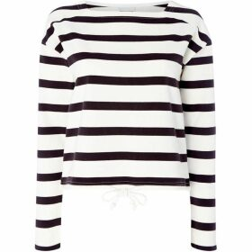 Noisy May Atlas Drawcord Striped Sweatshirt